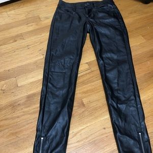 American Eagle faux leather jegging